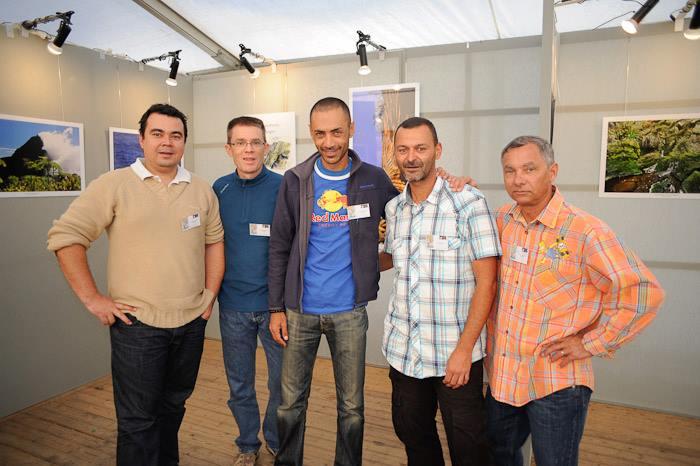 de gauche à droite Olivier Payet, Antoine Franck, Fabrice Lebon, Jean-François Begue et Jean-Baptiste Caumes