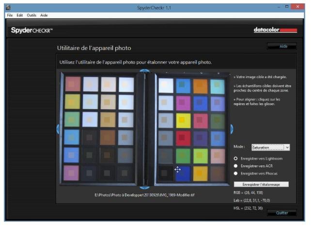 """Le résultat va aboutir à un fichier """"preset"""" permettant de corriger automatiquement les couleurs dans Ligthroom."""