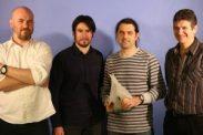 De gauche à droite : Frédéric POLVET, Guillaume BILY, David ALLEMAND et Thierry VEZON