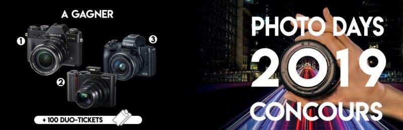 Participez au concours des PhotoDays 2019 et tentez de remporter un des lots mis en jeu