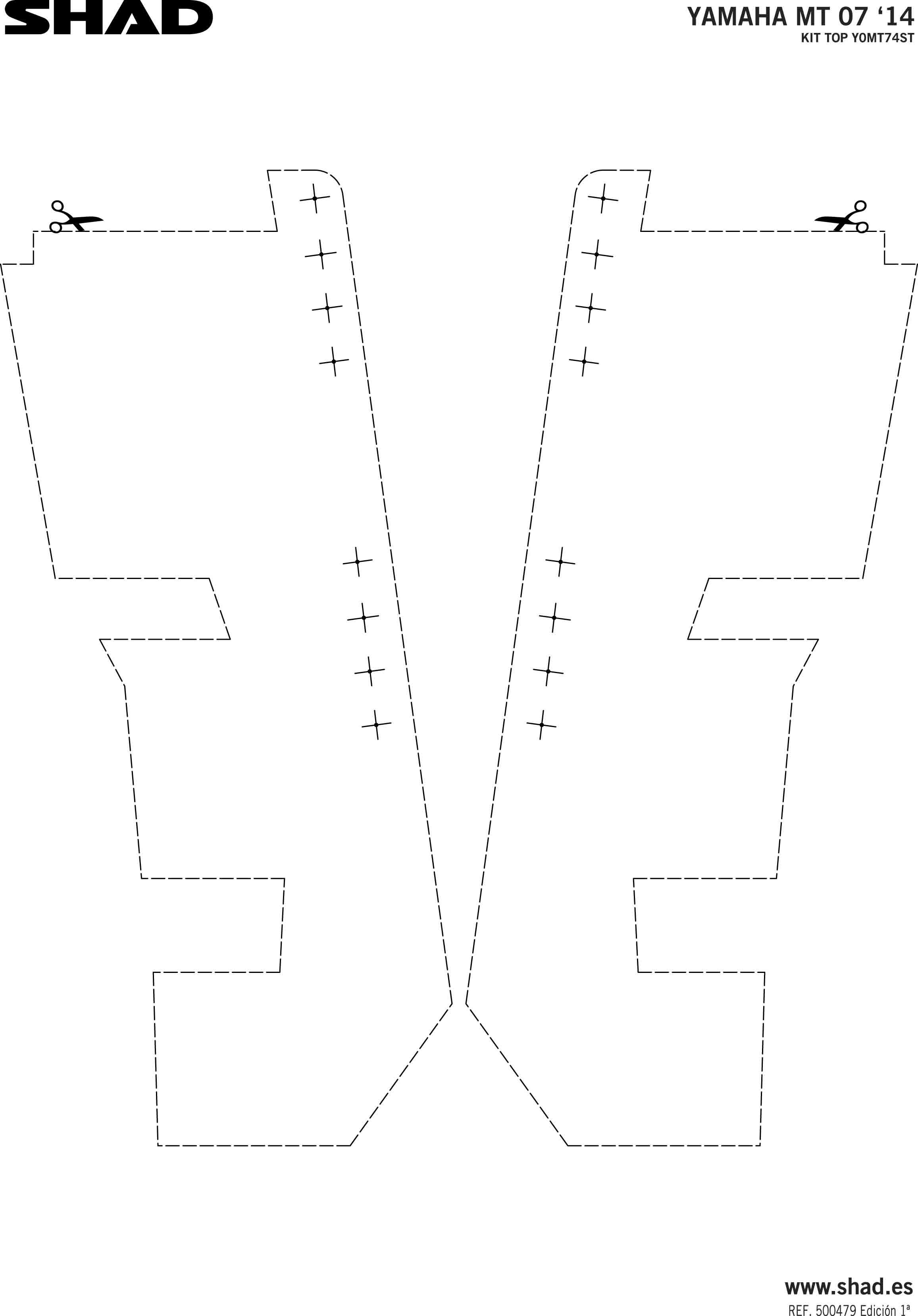Shad Top Case Rack Yamaha Fz 07