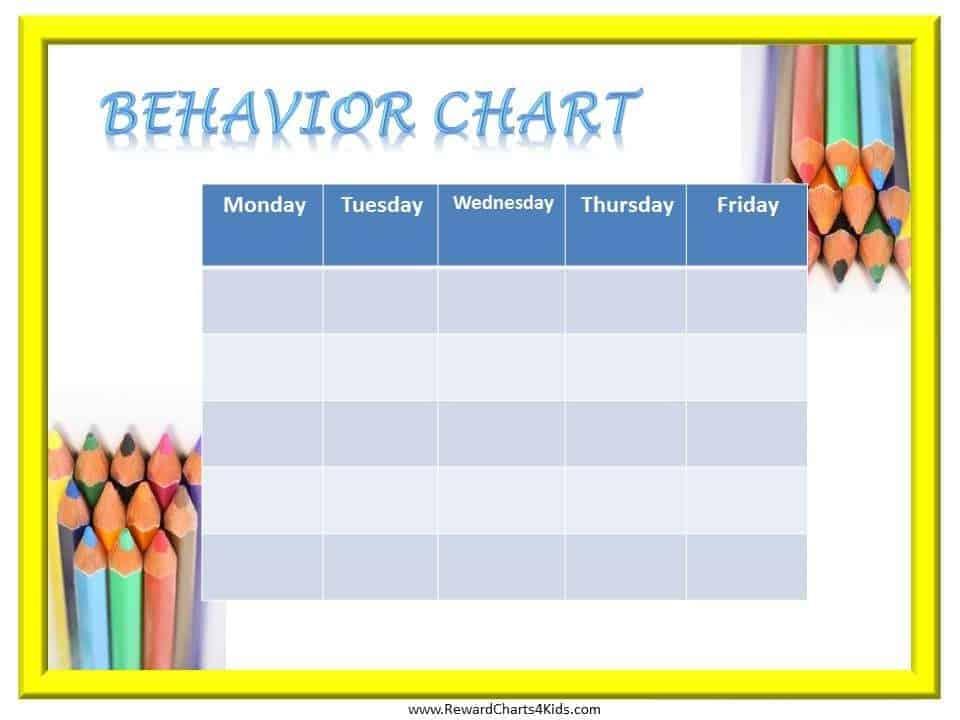 Free Printable Behavior Charts Customize Online Hundreds