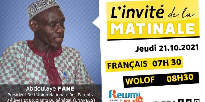 Invite De La Matinale Abdoulaye Fane Unapes