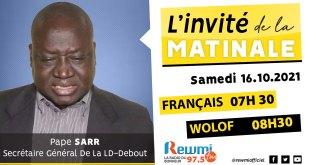 Invite De La Matinale Pape Sarr Ld Debout