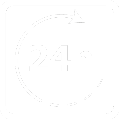 parking 24 white icon