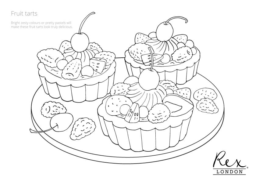 free baking colouring pages  rex london blog