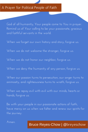 Prayer for Political People of Faith, Bruce Reyes-Chow