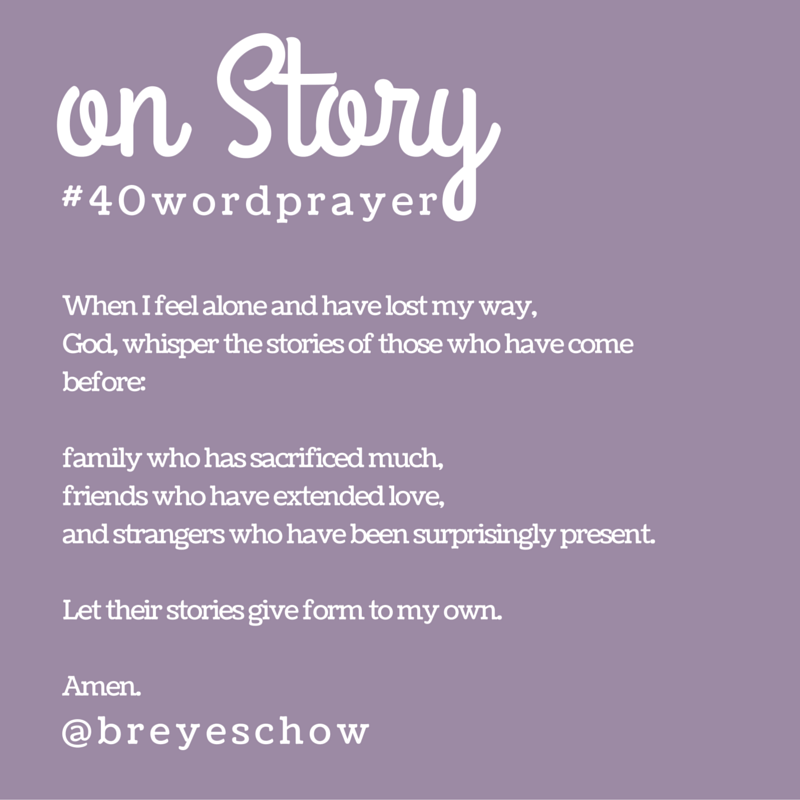 #40WordPrayer on Story — Bruce Reyes-Chow