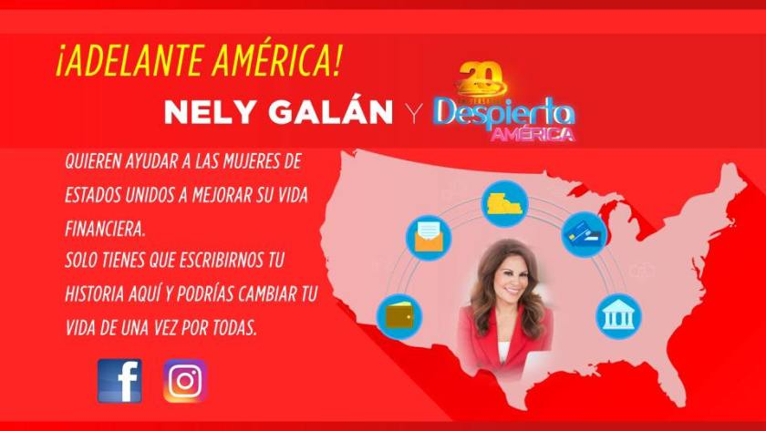 Adelante America Graphic w Nely Photo