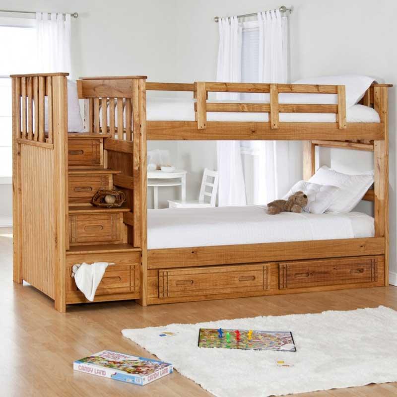 Dečiji Krevet Na Sprat Sa Fijokama I Stepeni Tem