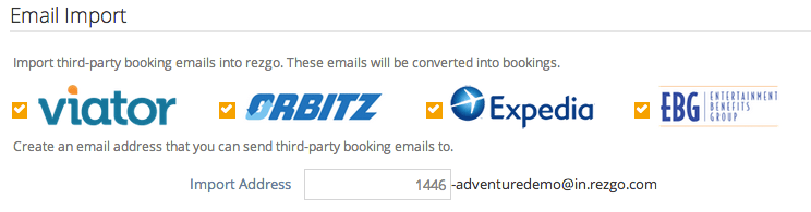 import emails and bookings from viator, expedia, orbitz, and ebg