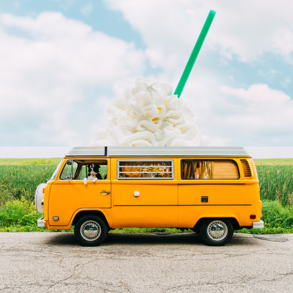 Images from Starbucks Frappucino Summer campaign