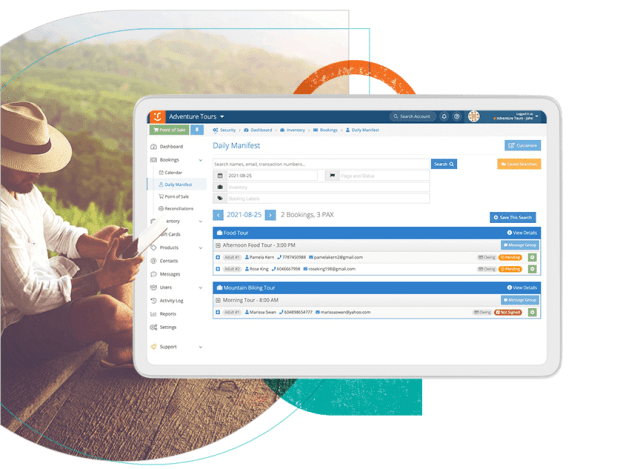 Customer Service Booking System Screen