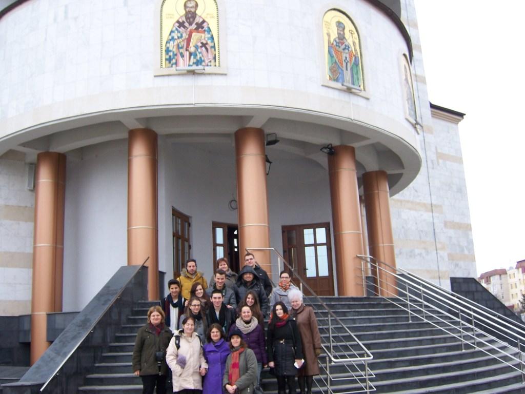 142 Visiting Mioveni church