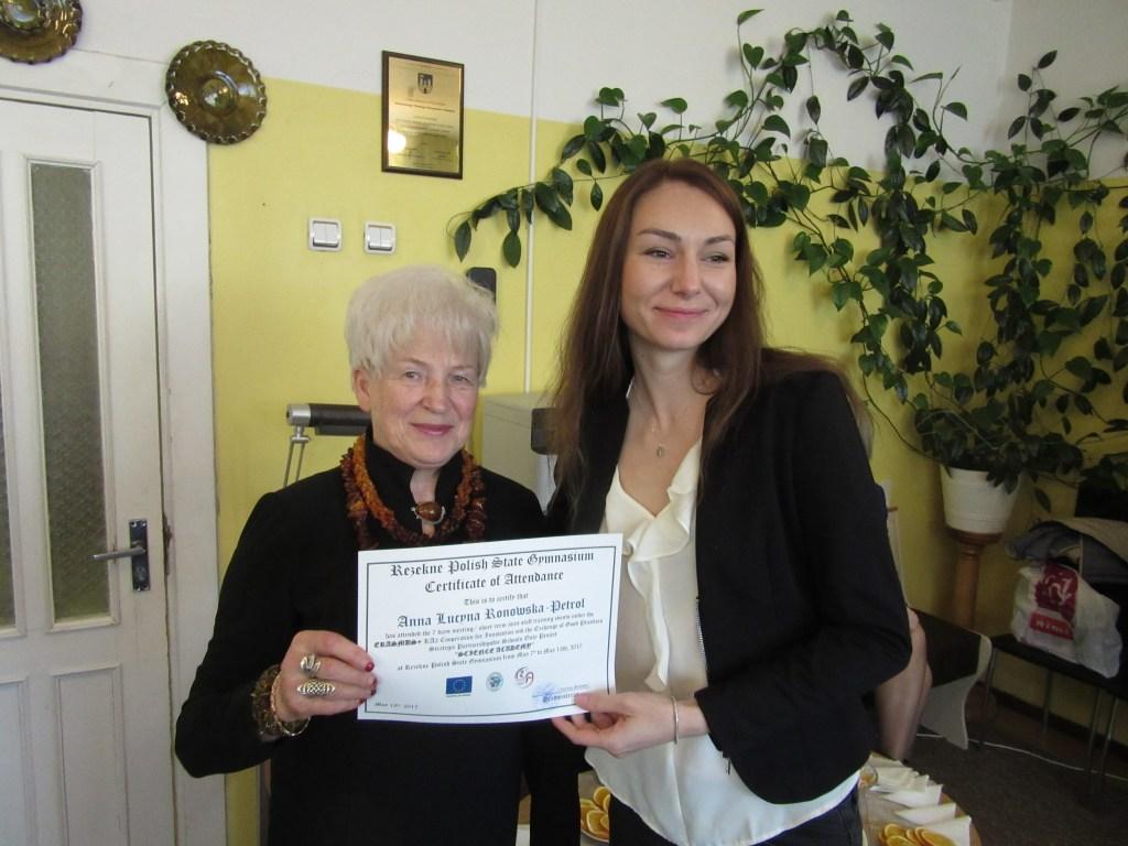 61. Presenting certificates