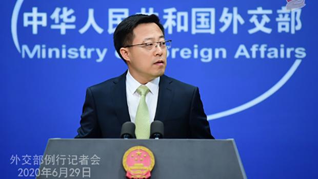 中国外交部发言人赵立坚(中国外交部官网)