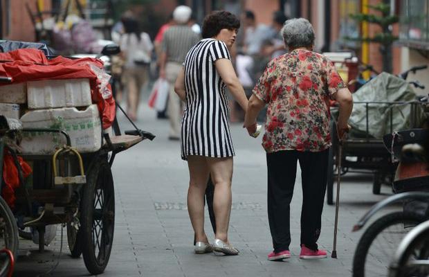 中国的老龄化有增速的危险(法新社资料图)