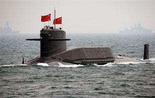 Tàu ngầm nguyên tử của Trung Quốc xuất hiện trên biển Đông. AFP