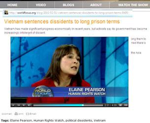 Bà Elaine Pearson, thuộc Tổ Chức Theo Dõi Nhân Quyền