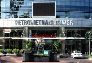 Trụ sở Petro Việt Nam ở Saigon. RFA