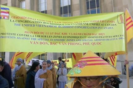 Giáo Hội Phật Giáo Việt Nam Thống Nhất (GHPGVNTN) tại hải ngoại, Ban điều hợp Liên Âu xuống đường để đồng hành cùng đồng bào trong nước lên tiếng bảo toàn lảnh thổ hôm 30/9/2018 tại Paris, Pháp.