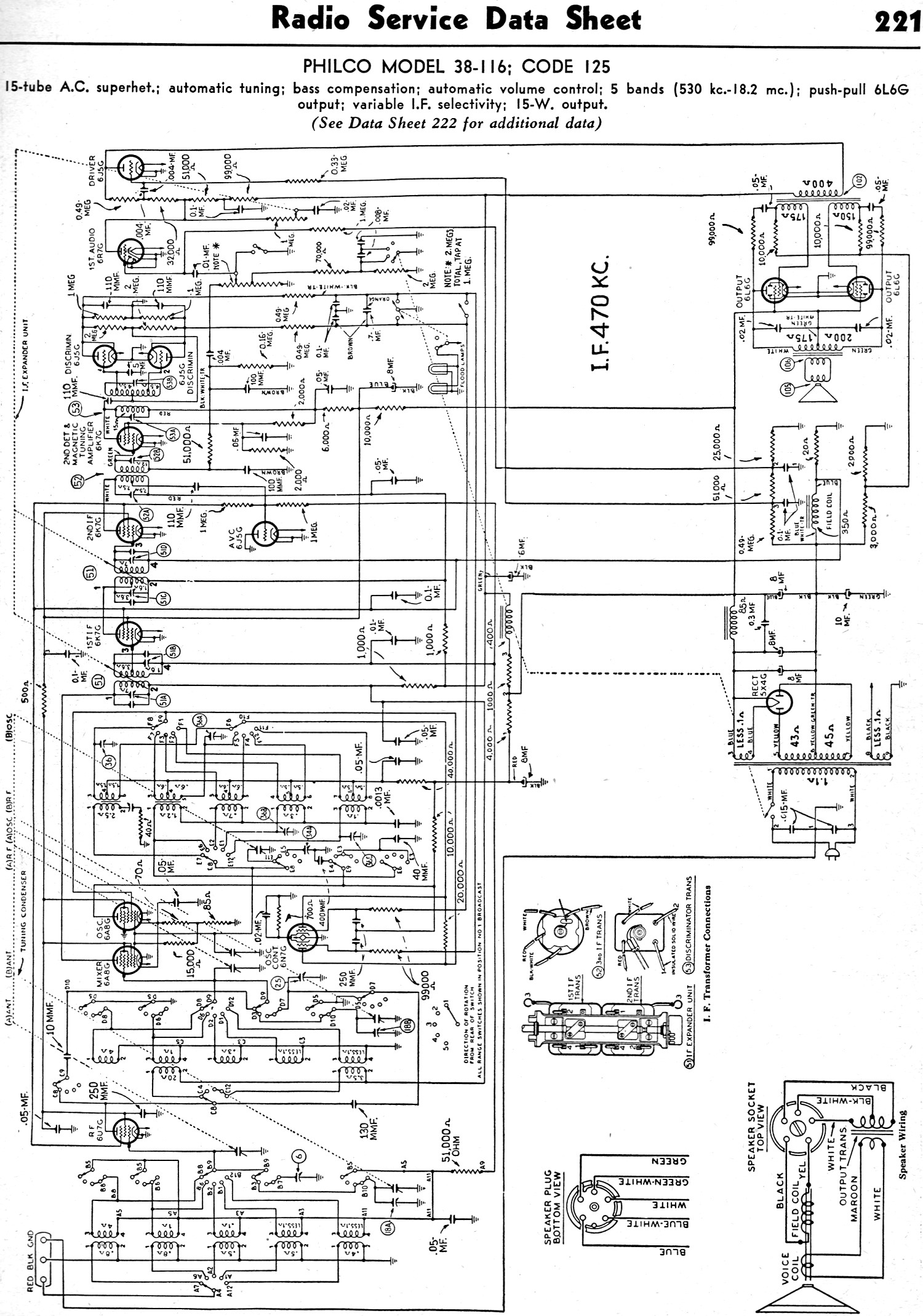 Philco Model 38 116 Code 125 February Radio Craft