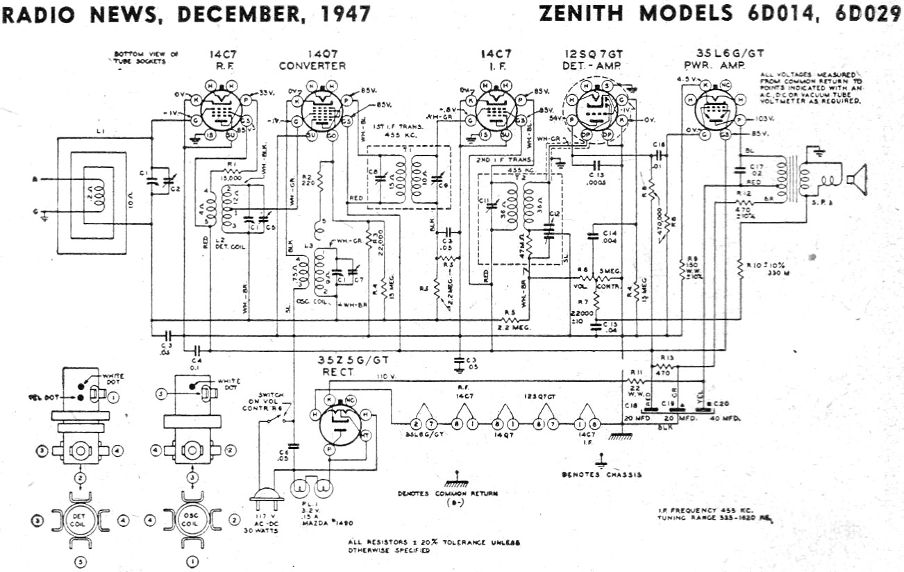 Radio Receiver Schematic