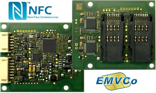 Pagamenti Contactless EMVco ready, CPR44.02 OEM Reader RFID HF ed NFC - Socket per 4 SAM