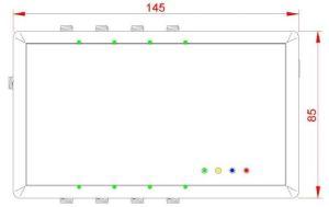 ISC.ANT.UMUX - Antenna Multiplexer RFID UHF - Dimensioni