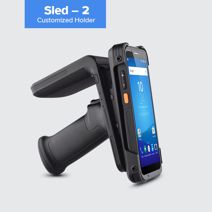 R6 - RFID UHF Sled Reader per smart-phone - Customized Holder