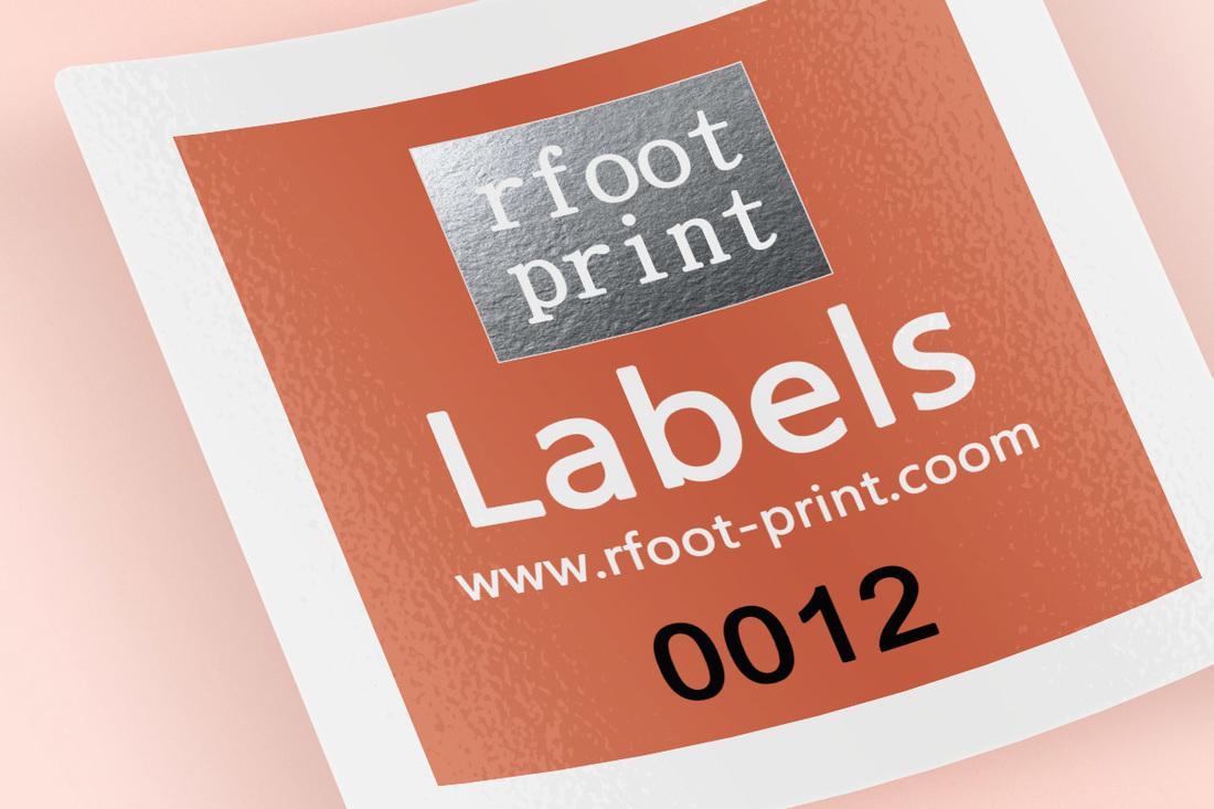 數位貼紙標籤印刷 - 右腳設計印刷 rfoot x print