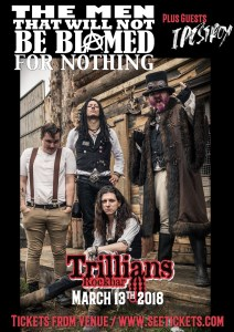 the men that will not be blamed for nothing at trillians with idestroy