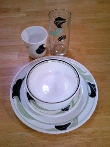 Corelle Black Orchid Dinnerware set