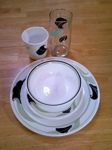 Corelle Black Orchid Dinnerware set
