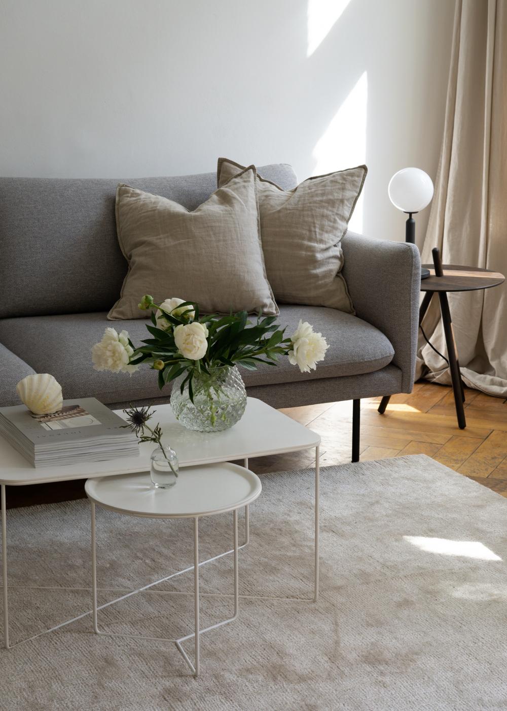 h m home beige linen pillows coffee