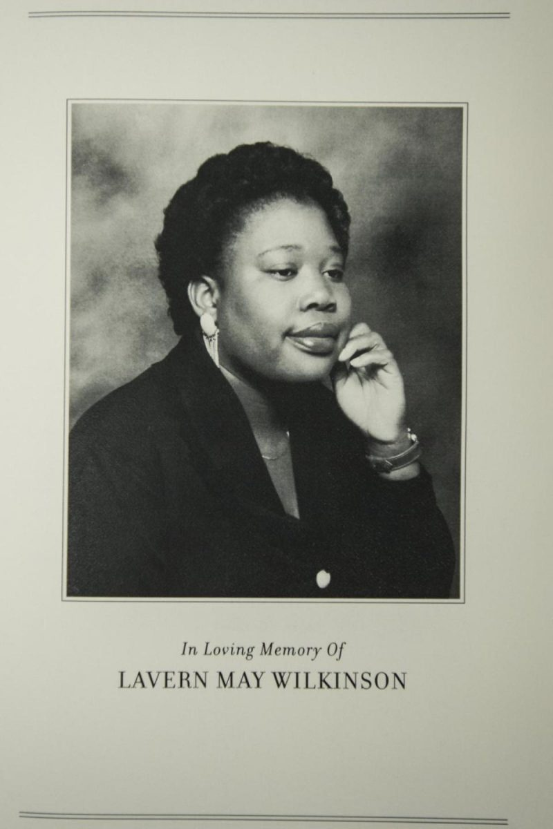 Mass Card of Lavern Wilkinsin who passed away from cancer