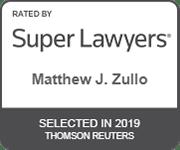 Words - Super Lawyers Award Matt Zullo