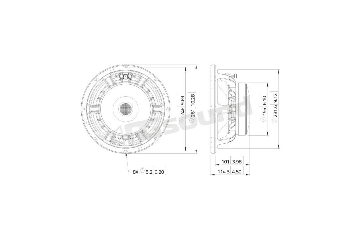 Lavoce Waf102 50a Woofer 250mm 10 Pollici