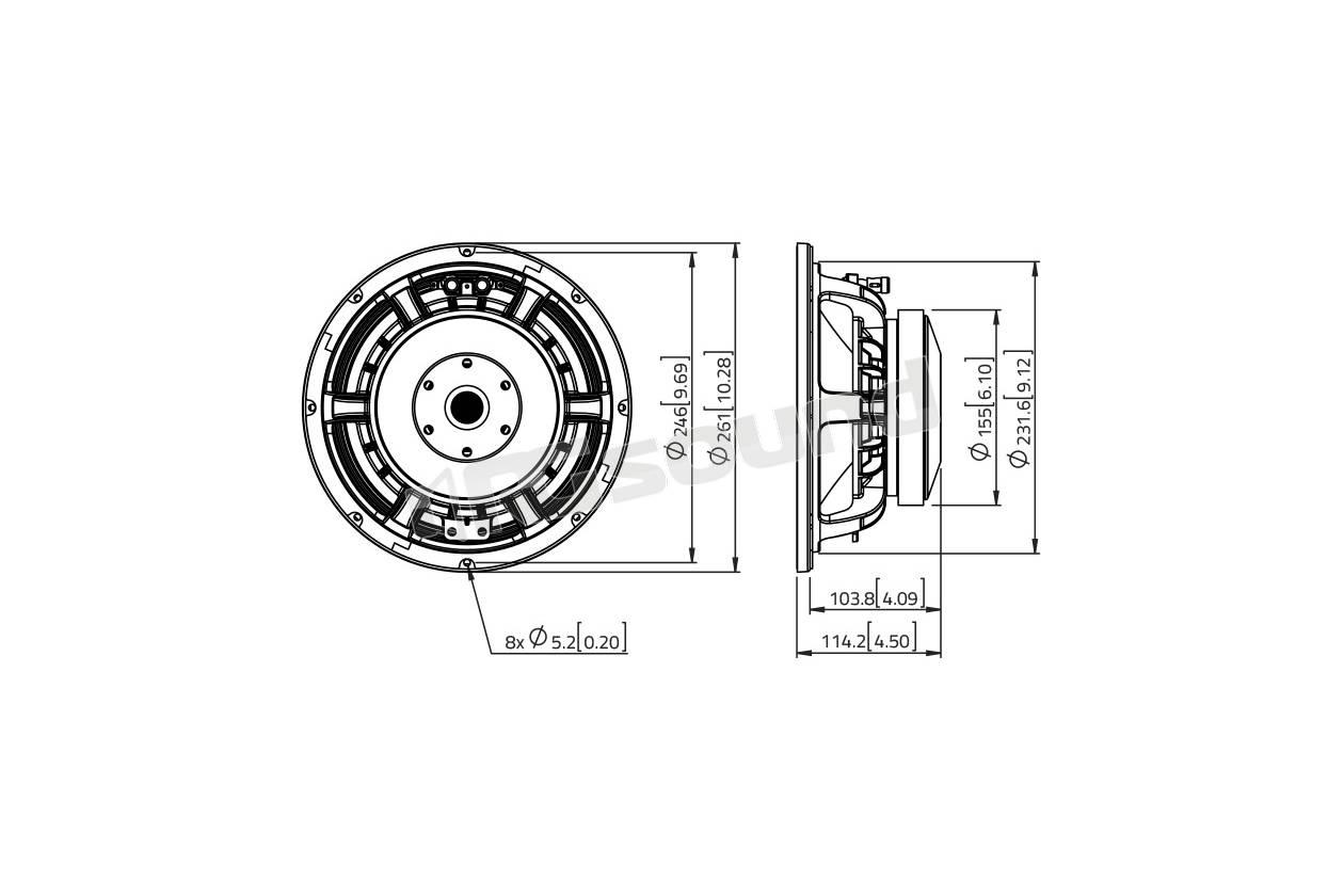 Lavoce Waf102 51 Woofer 250mm 10 Pollici