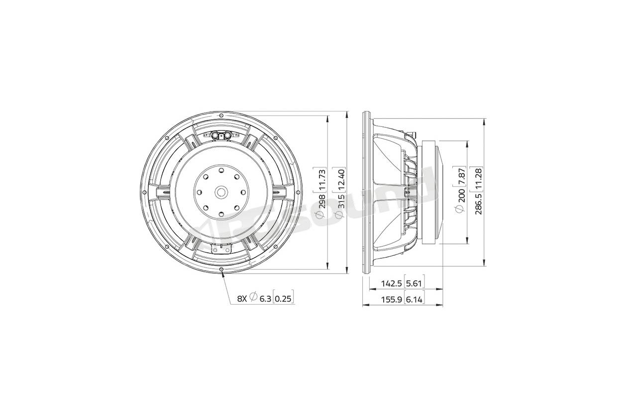 Lavoce Waf123 02 Woofer 300mm 12 Pollici