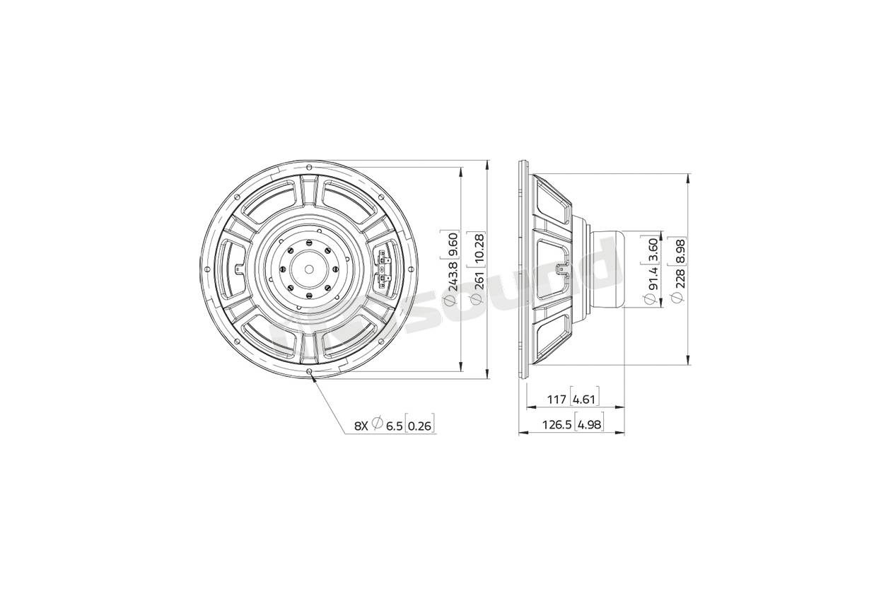 Lavoce Wsn102 50 Woofer 250mm 10 Pollici
