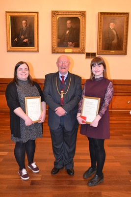 Weaver Award: L-R Rebecca Moir, Ian Dale and Joanna O'Brien