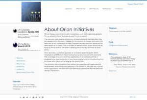 Orion Initiatives website