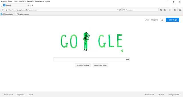 Tela Inicial Google