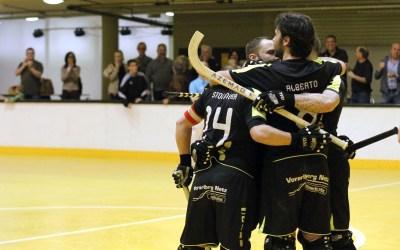 Rekordmeister Dornbirn gewinnt  erstes ÖM-Derby gegen Wolfurt!