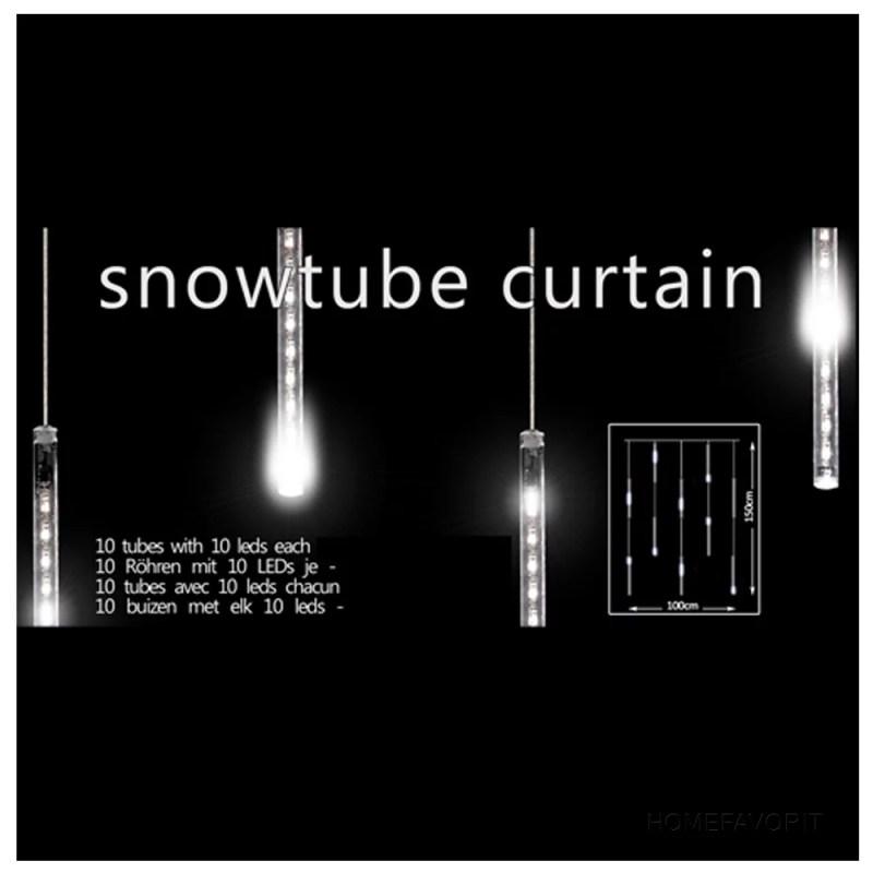 Lichterkette LED SnowTube Vorhang Snowfall mit Schneefall Effekt warmweiß 100x150cm