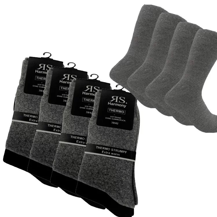 Thermosocken grau