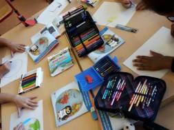3. Die Kinder malen Umweltplakate