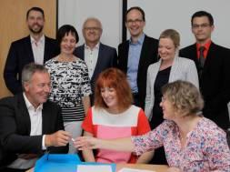 Unterzeichnung Kooperationsvereinbarunga