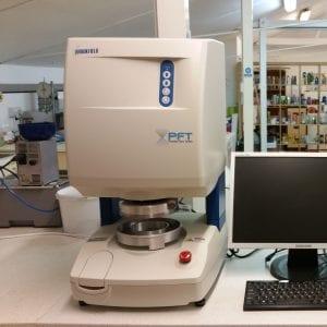 Our powder flow testing set up.